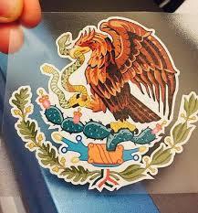 Eichelman Designs Mexican Coat Of Arms Sticker Decal Mexico Flag Car Truck Vinyl 4 X 3 75 Body Decal Bumper Sticker Hoo Bumper Stickers Mexico Flag Flag Cake