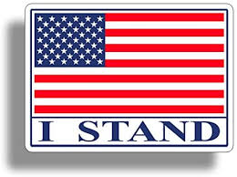 Amazon Com I Stand Usa Flag Sticker Decal American Military Car Truck Auto Automotive Graphic Bumper Window Honoring Soldiers Arts Crafts Sewing