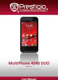 Prestigio Multiphone Pap 4040 Duo Users ...