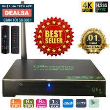 Android Tivi Box Ultra HD Q9s New tặng kèm Chuột Bay Kiêm Điều Khiển KM800  - Đầu phát Media [Hà Nội]