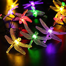 On Sale 40 Led 16 4ft Dragonfly Solar String Lights Outdoor Fairy Lighting For Christmas Trees Garden Fence Wedding Party Shopee Philippines
