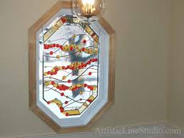 stained leaded glass octagon window