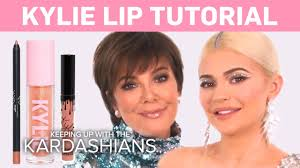 kylie jenner does a makeup tutorial on