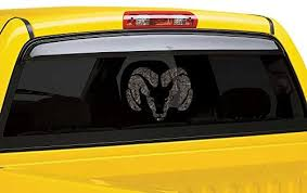 Amazon Com Pp4u Dodge Ram Camo Vinyl Car Window Decal Automotive