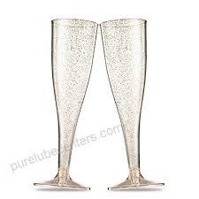 champagne flutes 5 oz clear plastic
