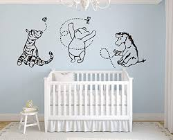 Amazon Com Lovely Decals World Classic Winnie The Pooh With Tigger And Eeyore 76 Wx37h Wall Decal Quote Art Vinyl Sticker Baby Home Kitchen