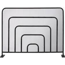 banks black iron fireplace screen