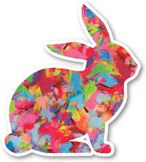 Amazon Com Bunny Sticker Watercolor Paint Stickers Laptop Stickers 2 5 Vinyl Decal Laptop Phone Tablet Vinyl Decal Sticker S1230 Arts Crafts Sewing
