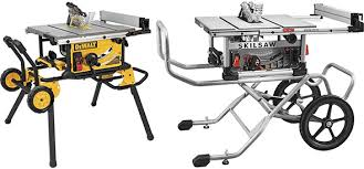 Reader Question Dewalt Dwe7491 Vs Skilsaw Spt99 Table Saw With Rolling Stand