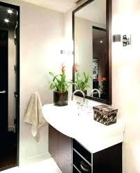 brushed nickel vanity mirror bathroom
