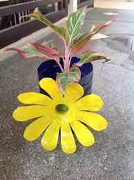 beautiful flower pot made of plastic