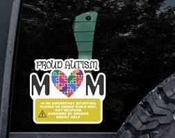 Autism Car Decal Etsy