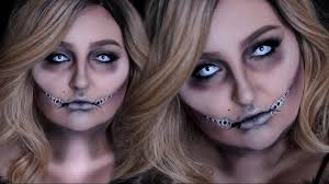 glam corpse costume makeup