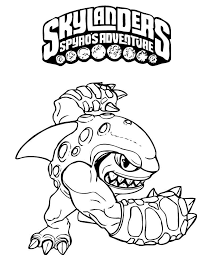 Kleurplaten Skylanders Spyros Adventure 4