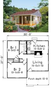 cottage style house plan 2 beds 1