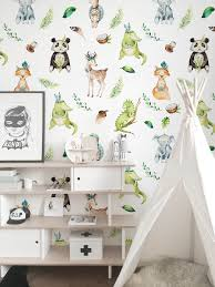 Cute Indian Animals Wallpaper Wall Mural In 2020 Kids Room Wallpaper Kid Room Decor Indian Animals
