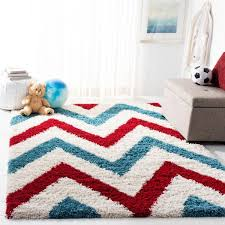 Safavieh Kids Shag Ivory Red 3 Ft X 5 Ft Area Rug Sgk564b 3 The Home Depot