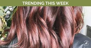trending hair colors this week with