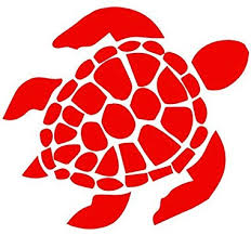 Amazon Com Bd Usa Sea Turtle Decal Sticker Red Decal Sticker Vinyl Car Home Truck Window Laptop Automotive
