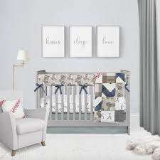 vintage baseball baby bedding crib set