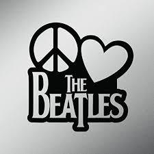 Peace Love The Beatles Vinyl Decal Sticker Cars Trucks Vans Walls Laptops Cups Black 5 5 X 5 3 Inch Kcd1635b Wantitall