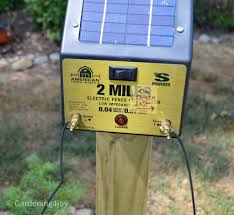 Install A Solar Powered Fence To Keep Groundhogs Out Of The Garden Gardening4joy