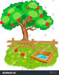 Cartoon Wooden Farm Fence Trough Water Stock Illustration 766022122