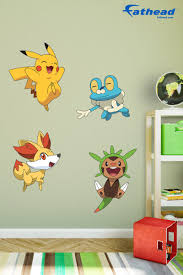 Putting Up Your Vinyl Wall Decals Of These Pokemon Is So Much Easier Because All You Have To Do Is Peel And Stick And T Kids Room Pokemon Room Kids Room