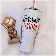 Baseball Mama Glitter Tumbler Glitter Sips