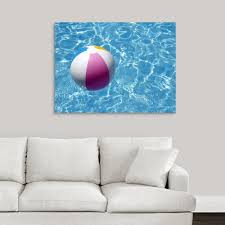Shop Beach Ball In Swimming Pool The Picture Of Summer Holidays Canvas Wall Art On Sale Free Shipping Today Overstock 16440957
