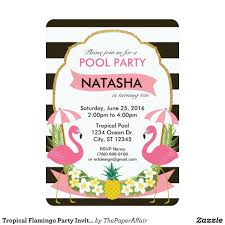 Tropical Flamingo Party Invitation 5x7 Zazzle Com Convite De