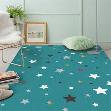 Child Carpet Star Lake Blue Child Play Rug For Girls Boys Soft Thicken Large Crawling Mat Kids Room Decorative Rugs For Floor Carpet Aliexpress