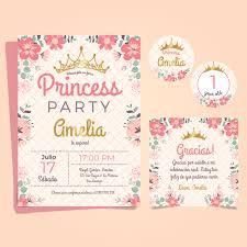 Tarjetitas De Cumpleanos Para Las Princesas Invitaciones De