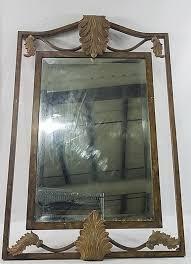 decorative metal framed wall mirror