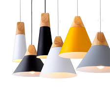 painted pendant light from small