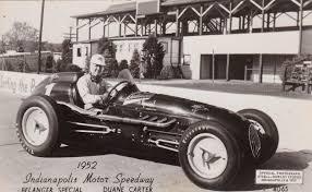 RP; Indianapolis, Indiana, 500 Car race 1952; Belanger Special race car,  Duane C / HipPostcard