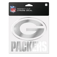 Green Bay Packers Chrome Decal Fly Me Flag