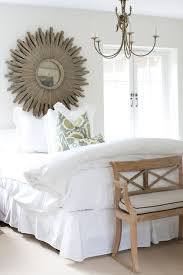 over the bed mirror transitional