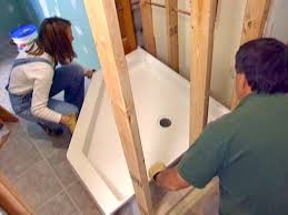 how to install a corner shower how