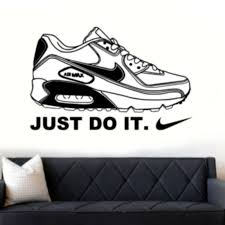 Air Max 90 Nike Trainer Just Do It Wall Art Vinyl Decal Decorative Sticker 90s Ebay