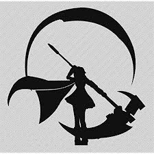 Amazon Com Rwby Anime 5 5 Ruby Silhouette Decorative Die Cut Vinyl Decal For Cars Laptops Tablets Skateboards Black Color Computers Accessories