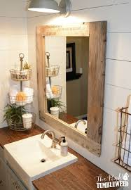 new wood framed mirror for bathroom how