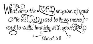 What Does The Lord Require Of You Micah 6 8 Vinyl Wall Decal Etsy