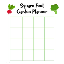 square foot garden layout outdoor