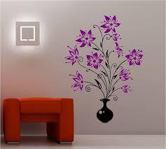 Huge Vase Of Flowers Wall Art Sticker Vinyl Bedroom Wall Paint Designs Vinyl Tree Wall Decal Wall Decals Living Room