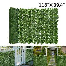 Artificial Leaf Hedge Roll Green Screen Panels Garden Fence Privacy Foliage 3m Ebay