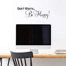 Vinyl Wall Decals Sticker Don T Worry Be Happy Bob Marley Music Quote Saying For Sale Online Ebay