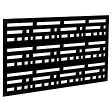 Designer Sheeting Decorative Panel Morse Indoor Outdoor 2 X 4 Black 73004796 Rona