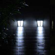 Wall Lamp Modern Fence Light Lights Garden Led Solar Power Shopee Philippines