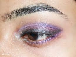 simple purple pink eye makeup tutorial